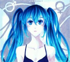 Vocaloid Hatsune Miku - Two-Faced-Lovers by MissGoldenweekArt