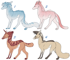 Panther Hound Adoptables 4 CLOSED by NakkAdoptables