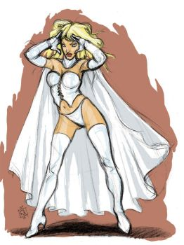 Emma Frost by ClownDomain