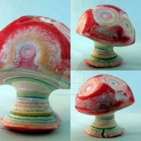 Magic mushroom made from a gobstopper by silverscape