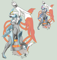 no. 646 white Kyurem by pitch-black-crow
