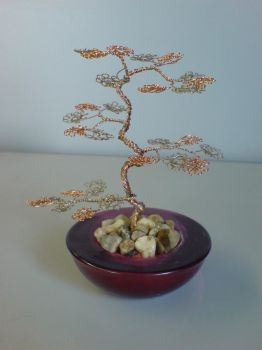 Miniature Wire Bonsai Tree  13-1 Not avaiable by sinisaart