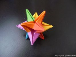 Origami Omega Star by OrigamiPieces