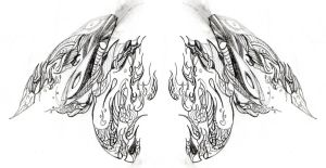 Possible Back Tattoo by Jriccio