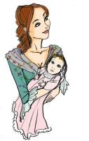 Maria and baby Rosalyn by Selinelle