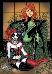 Harley Quinn and Poison Ivy Base Card by calslayton