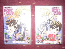 Vic Mignogna signed my Ouran DVDs by Ichigooneechan66
