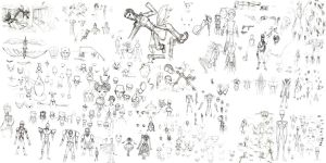traditional : Character Design Sheet 1 2007 by darshan2good