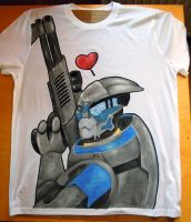 Garrus hand painted T-shirt by IfWereLost