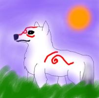 Okami- Ammy at dusk by Goldenfox1704