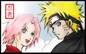 Naruto and Sakura by kanazuchi92