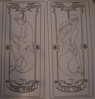 The Yang and Yin clow cards by TheDarknessWolf