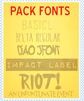 Pack Fonts by KarenNya