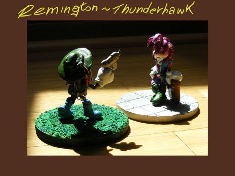 Thunderhawk and Remington figures: COMMISSIONS by The-Replicant