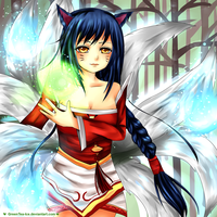 LoL - Ahri by GreenTea-Ice