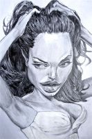 Angelina Jolie CARICATURE - Speed Drawing Italia by Speeddrawingitalia