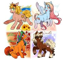 Pony Seasonal Adopts (CLOSED) by Desiree-U