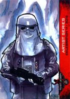 Snow Trooper sketch card 501st Legion CVI 2012 by geralddedios