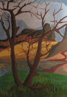 Oasis In Desert by ausrejurke