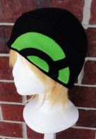 Pokemon X and Y Trainer Hat - Black and Lime Green by akiseo