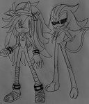 Scene between Flame and Eclipse the Darkling by flamethehedgehog2345