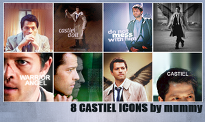 8 Castiel icons :2: by mummy16
