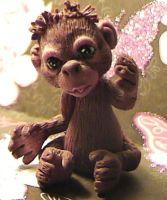 polymer clay orangutang tango by crazylittlecritters