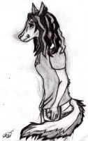 Shadow anthro by ShadowsLie