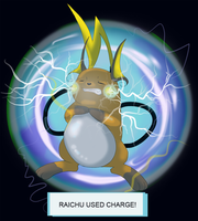 Raichu Used Charge! by WeisseEdelweiss