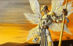 Angemon - Speed Painting by EricHenrique