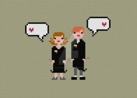 In Love - Hermione and Ron cross stitch pattern by avatarswish