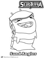 Sand Angler coloring Page Slugterra by SKGaleana