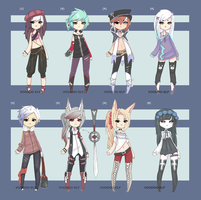 Adoptable Set [ 80 -250 point ] -OPEN - by Voodoo-Elf