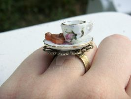 Mickey Dounut and Teacup Ring by kjtgp1