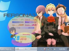 Persona 3 rainmeter skin by Winterheart73
