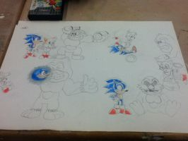 Sonic and Tails Vs Dr Donkey Egg Kong by ClassicSonicSatAm