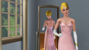 Peach sims 3 in fancy clothez by PrincessPeach4eva