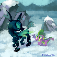 Thorax and Spike by Frozenspots