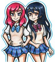 maki and umi by PastelPyre