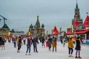 Skating rink on Red Sqear, Moscow by Dactari