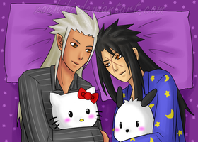 commission - XehaIsa In Bed by xochibi