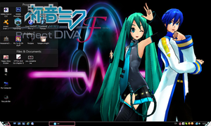 My Project Diva F Kaito x Miku Wallpaper/Desktop by PharaohAtisLioness