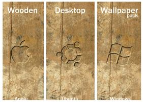 Wooden Desktop - OS Wallpaper by drdrevil