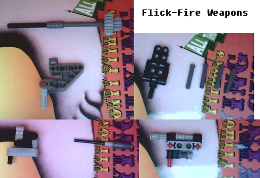 Bionicle MOCs- Flick Fire Weapons by VonIthipathachai