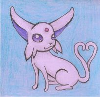 Espeon Sticky Note by smokecloud2743