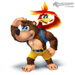 Banjo and Kazooie Smashified (transparent) by hextupleyoodot