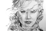 Nicole Kidman Pencil Portrait by GalleryGaia