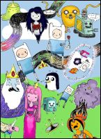 Adventure Time Collage - Colour by theatrebug07