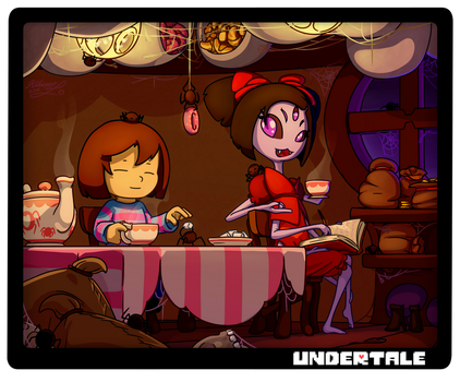 Undertale - Spider Tea with Muffet by Alexia-way