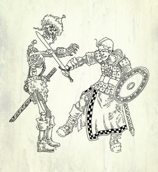 The skeleton and the warrior by koyotenahual